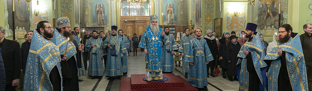 Митрополит Лонгин совершил Всенощное бдение в храме в честь Покрова Пресвятой Богородицы