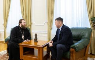 Митрополит Игнатий встретился с заместителем председателя правительства Саратовской области